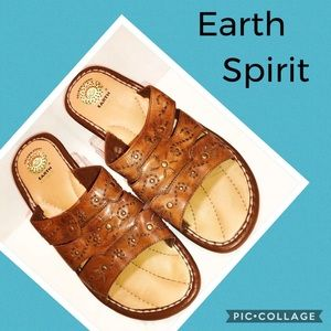Earth Spirit brown leather boho sandals size 6.5